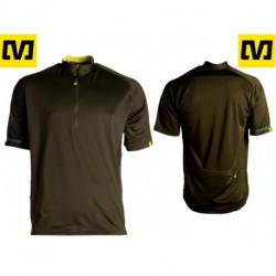 Maillot Mavic NOTCH Jersey VTT Manches Courtes Noir/Kaki : M