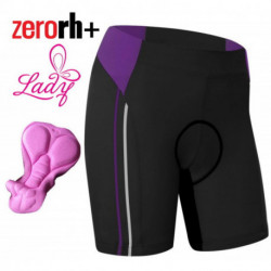 Cuissard Court Zerorh+ Up and down Sans Bretelles Noir/Violet - Femme : XS