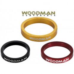 "Entretoises WOODMAN SL Ring 1'-1/8"" Aluminium LA PAIRE 5mm"