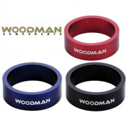 "Entretoises WOODMAN SL Ring 1'-1/8"" Aluminium LA PAIRE 10mm"