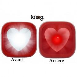 Éclairages KNOG BLINDER 1 Coeur - Avant + Arrière