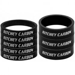 """Entretoises RITCHEY Carbon UD 1-1/8"""" - 5 ou 10mm"""