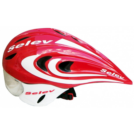 Casque SELEV Tempo Rouge/Blanc