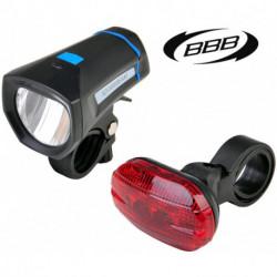 Éclairages BBB BLS-102K SquareCombo Avant et Arrière