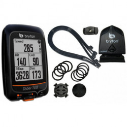 Compteur GPS BRYTON Rider 100 + Cadence - 36 Fonctions