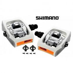 Pédales SHIMANO Clickr T400 Blanc
