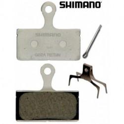 Plaquettes Frein à Disque Shimano G02A XTR / XT/ SLX / Alfine Résine